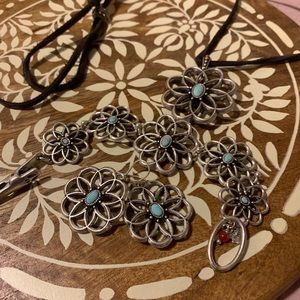 Lucky brand necklace, bracelet, and earrings set